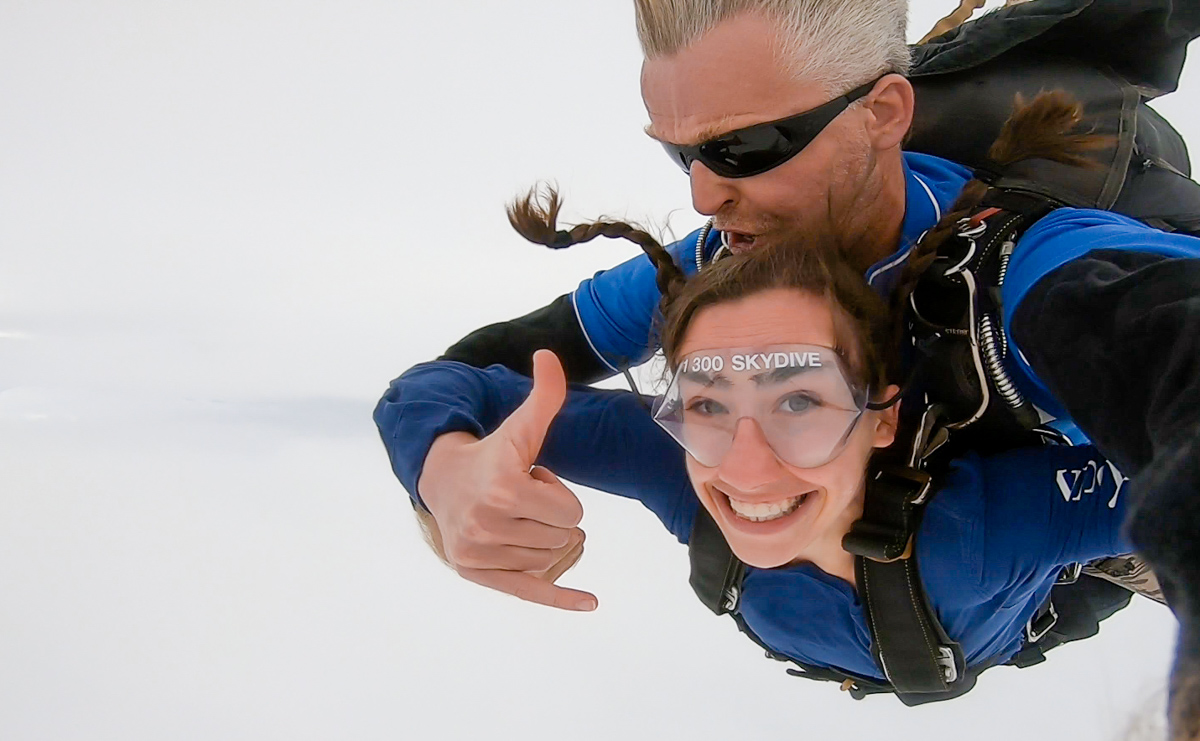 Skydiving for the first time in Australia